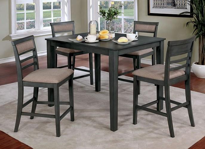 CM3607PT-5PK 5 pc Fafnir gray finish wood counter height dining table set