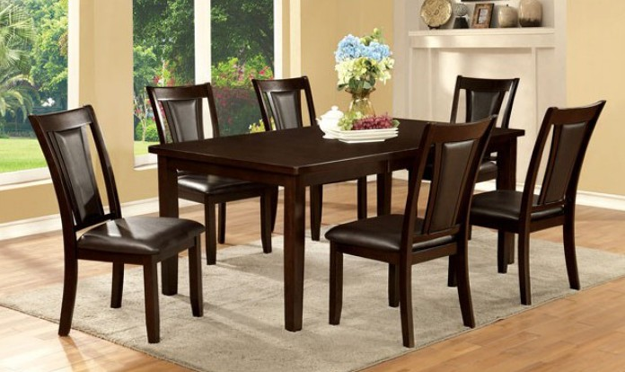 CM3910T-7PC 7 pc Emmons I dark cherry finish wood dining table set