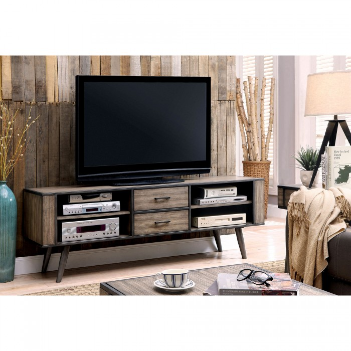 CM5360 TV Vilhelm III Collection Mid Century Modern TV Stand With Multiple  Gray Tone Finishes