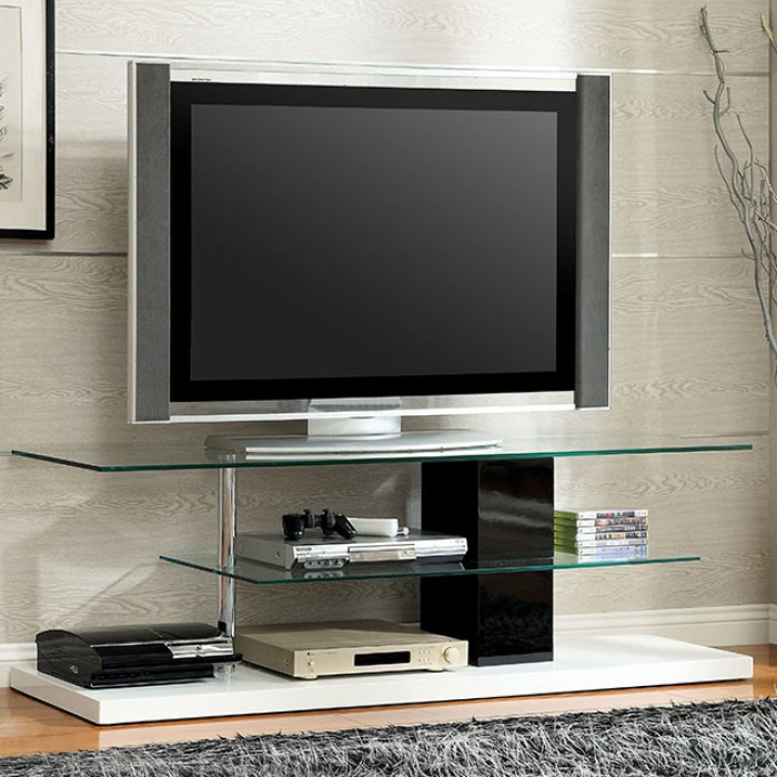 CM5811-TV Neapoli modern style black and white high gloss TV stand