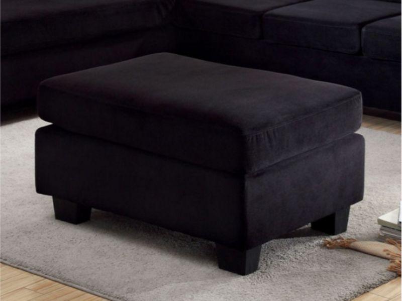 CM6316-OT Hokku designs nerissa lomma black flannelette fabric ottoman
