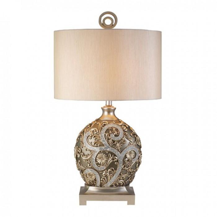 L94232T Estelle champagne finish polyresin ornate decorative rococo inspired table lamp