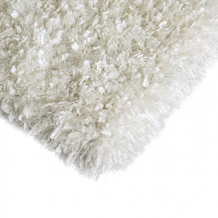 "RG4106 Annmarie 3"" thick white mix shag area rug 5' x 7'"