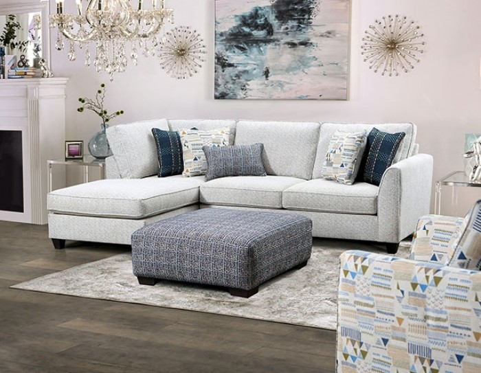 SM5402 2 pc Red barrel studio chepstow cream linen like fabric sectional sofa set with squared arms and chaise