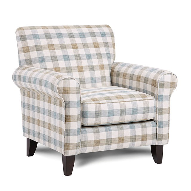 SM8191-CH-SQ Canora grey cardigan checkered pattern fabric accent chair