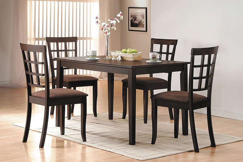 Acme 06850-51 5 pc espresso finish wood dining room table set