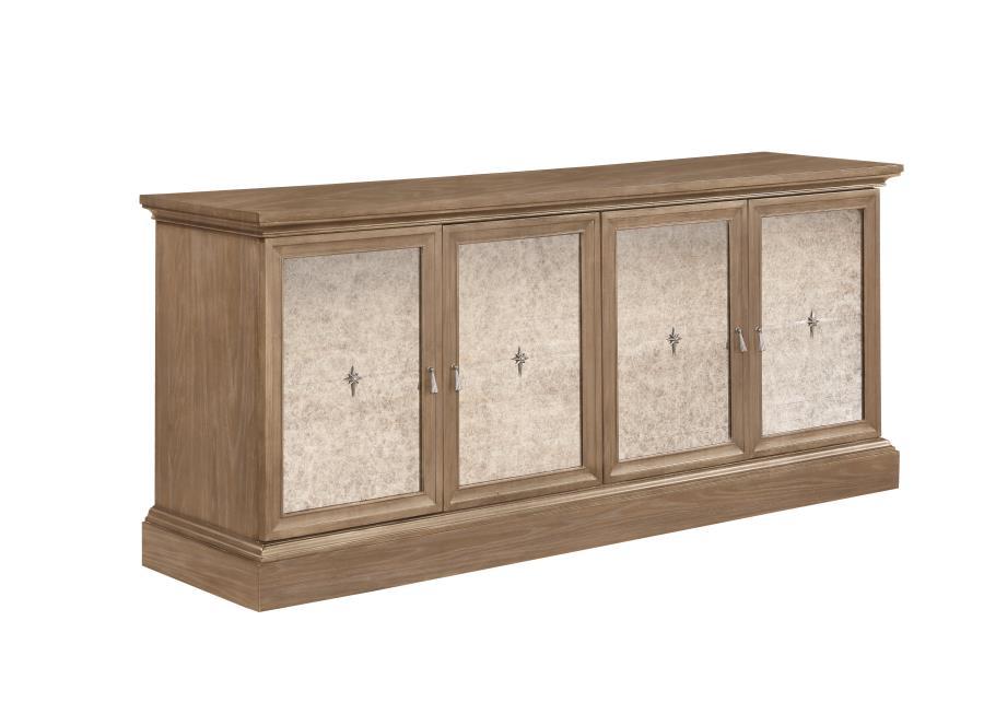 110295 Glen cove barley brown finish wood server buffet cabinet