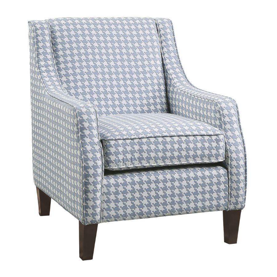 Homelegance 1110BU-1 Fischer classic style blue fabric patterned look accent chair