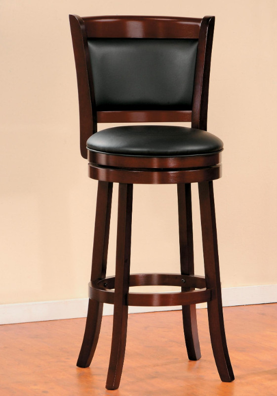 Homelegance 1131 29 Walcott Walnut Finish Wood Swivel Barstool With Back