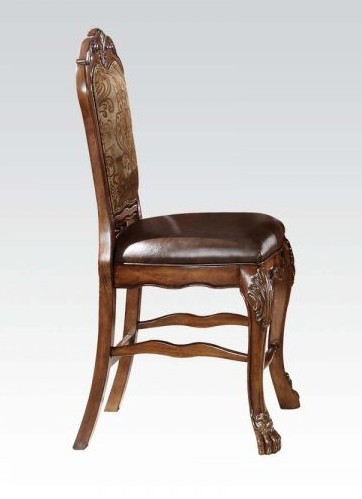 Acme 12162 Set of 2 dresden cherry oak finish wood counter height chairs
