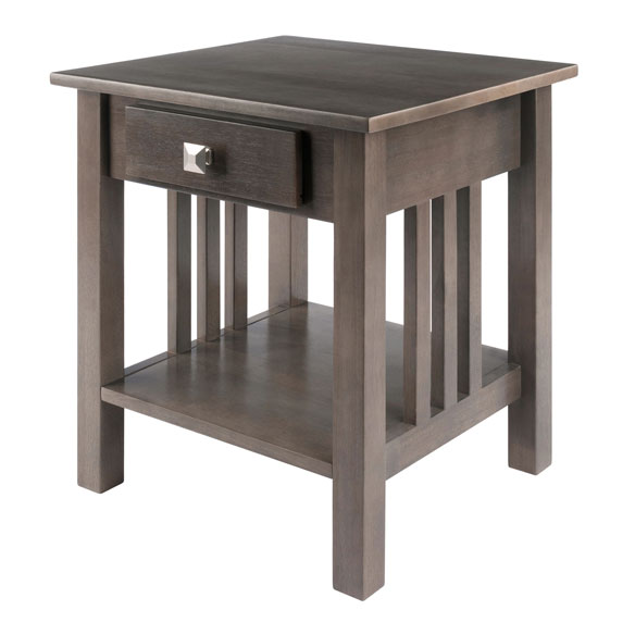 16018 Stafford End Table, Oyster Gray