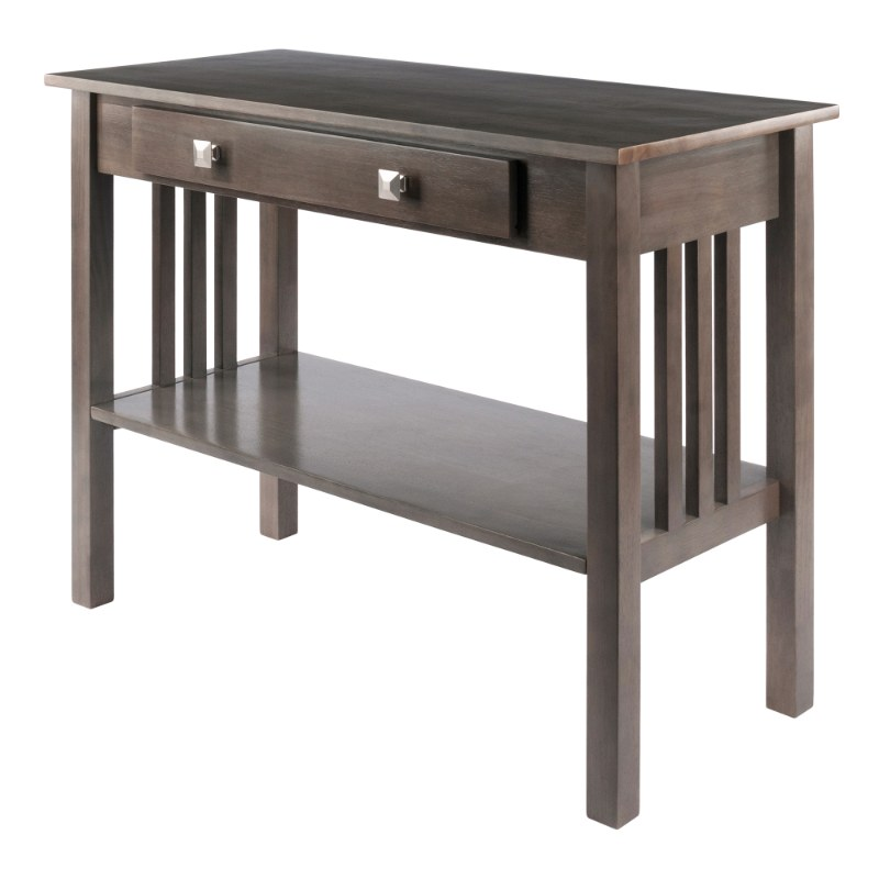 16033 Stafford Console Hall Table, Oyster Gray