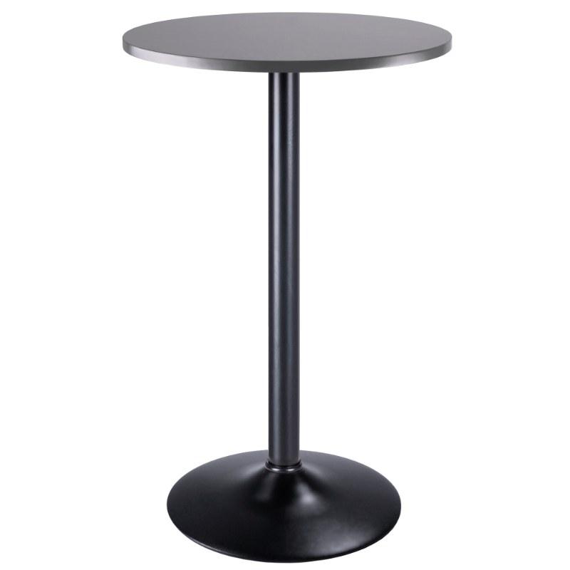 16123 Tarah Pub Table, Black & Slate Gray
