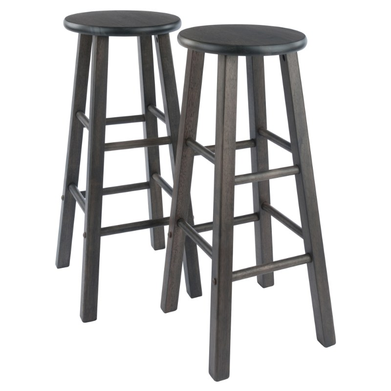 16270 Element Bar Stools, 2-Pc Set, Oyster Gray