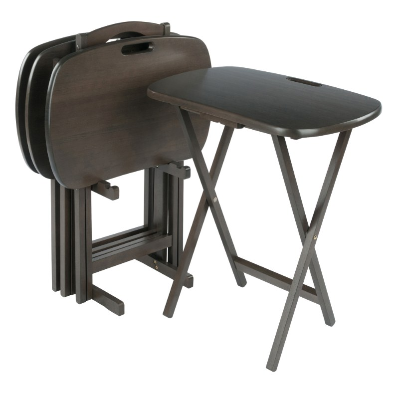 16577 Lucca 5-Pc Snack Table Set, Oyster Gray