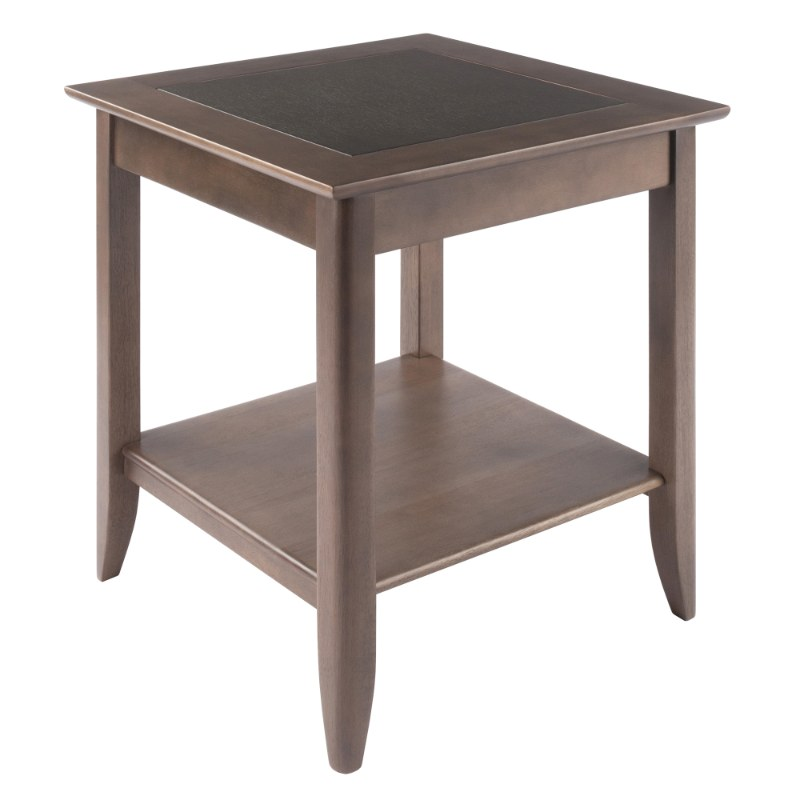 16622  Santino End Table, Oyster Gray