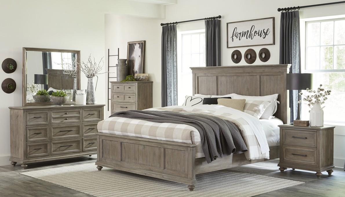 Homelegance 1689BR-4PC 4 pc Astoria grand Cardano driftwood light brown finish wood queen bedroom set