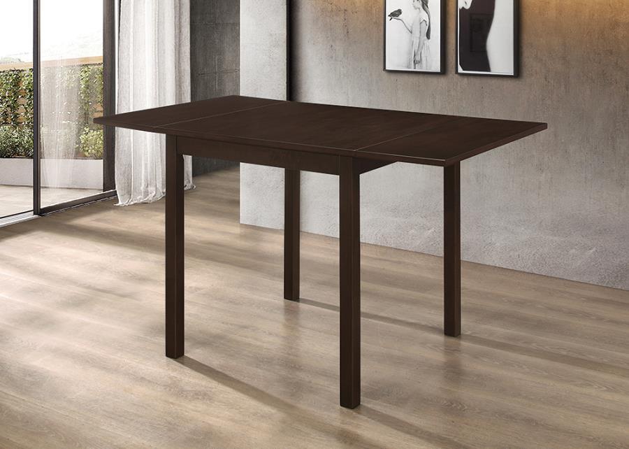 190821 Charlton home pecoraro trevino kelso espresso finish wood cafe breakfast bistro drop leaf table