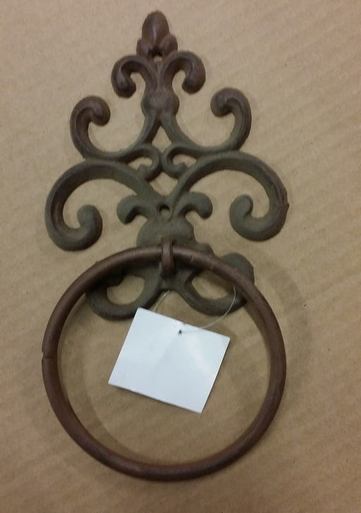 Cast iron door knocker floral design