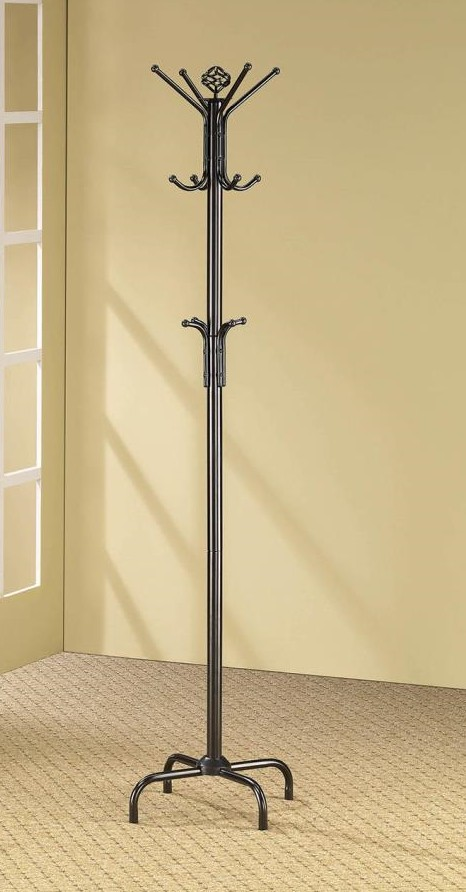 2019 Porch & den merlin 12 hook satin black metal finish coat rack with multiple hooks