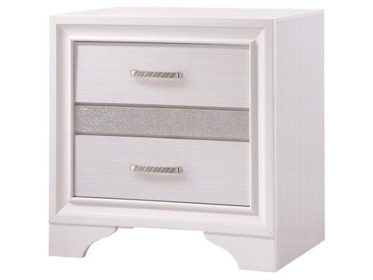 205112 London white finish wood nightstand