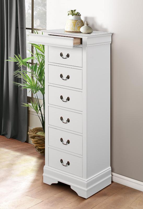 Homelegance 2147W-12 Mayville queen anne white finish wood 7 drawer lingerie chest