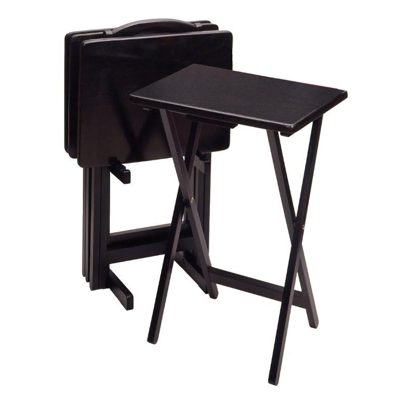 22520 Alex 5-Pc Snack Table Set, Black