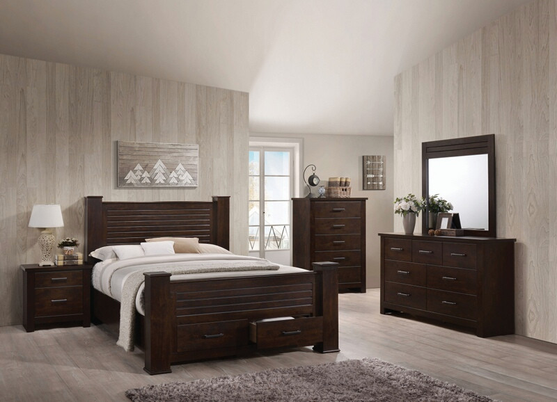 Acme 23370Q 5 pc Panang mahogany finish wood storage drawers queen bedroom set