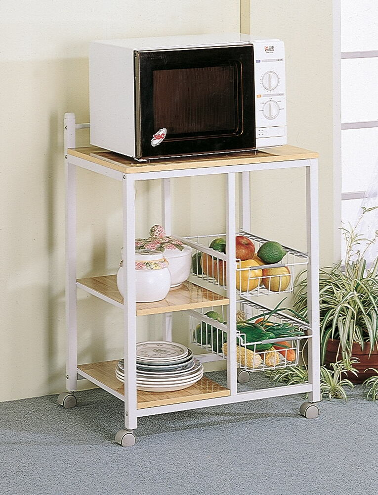 2506 Wildon home Lake havasu aamil chefs helper natural finish top and white finish metal frame utility cart