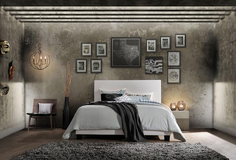 Acme 25710Q Lien white faux leather queen bed set