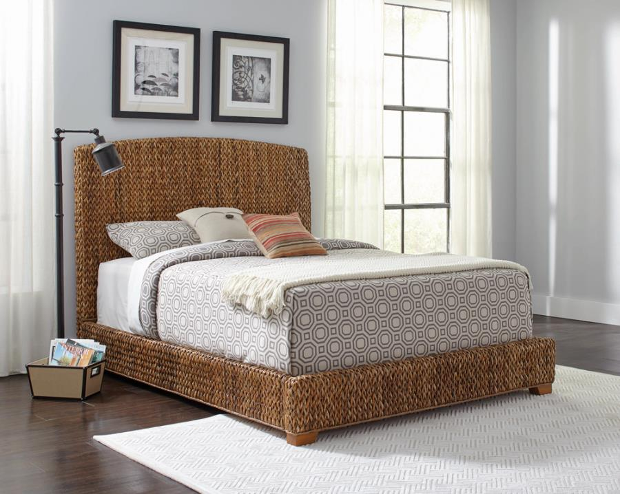 300501Q Mercer 41 lakeside laughton amber woven queen size bed set