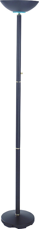 """SH Lighting 3033BK Palacial standard bulb torchiere floor lamp 72"""" h black with rotary switch"""
