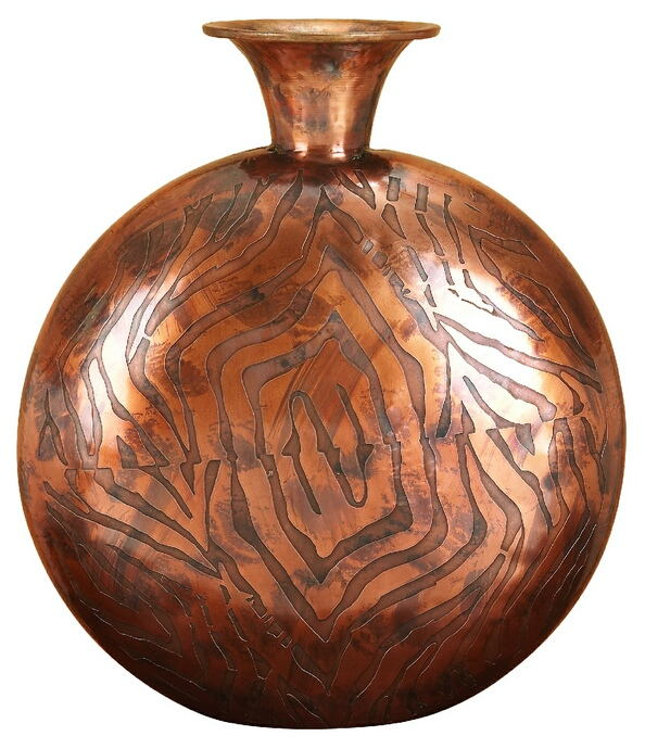 Ankora Copper Metal Flower Vase New