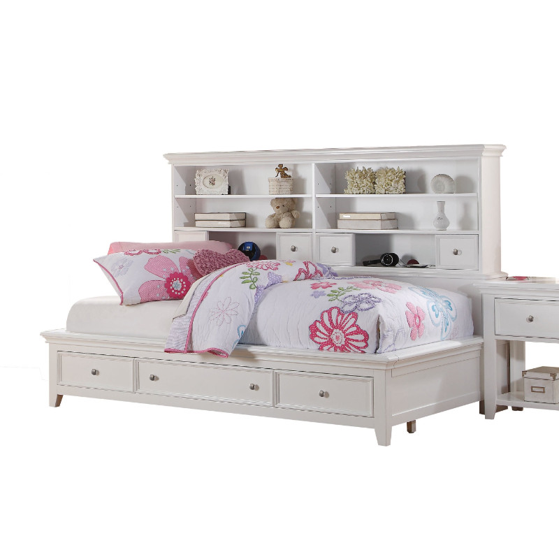 Acme 30590T Lacey white finish wood twin day bed storage drawers & shelves