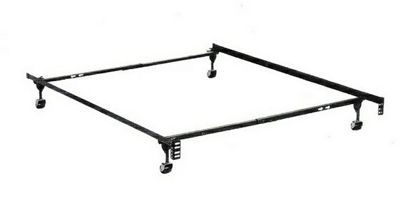 Twin / full size supreme atlas-lock bed frame with rug rollers with headboard attachment