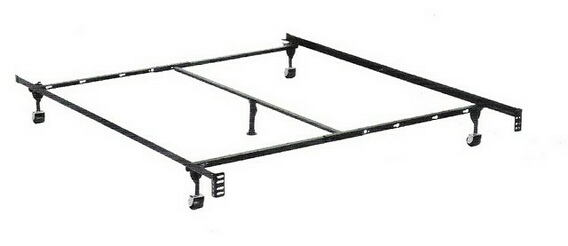 Twin / full / queen size supreme atlas-lock bed frame with rug rollers with headboard attachment