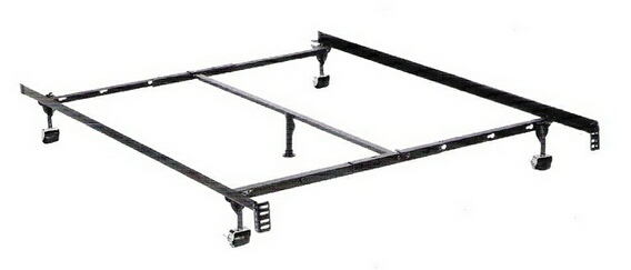 Twin / full / queen size premium lev-r-lock bed frame with rug rollers with headboard attachment