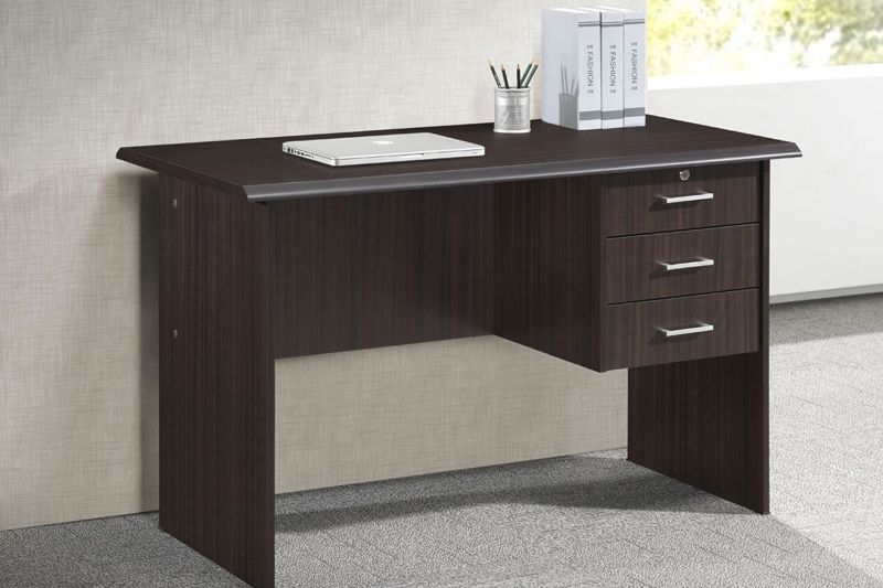 Asia Direct 3308 Espresso finish wood student writing desk with drawers