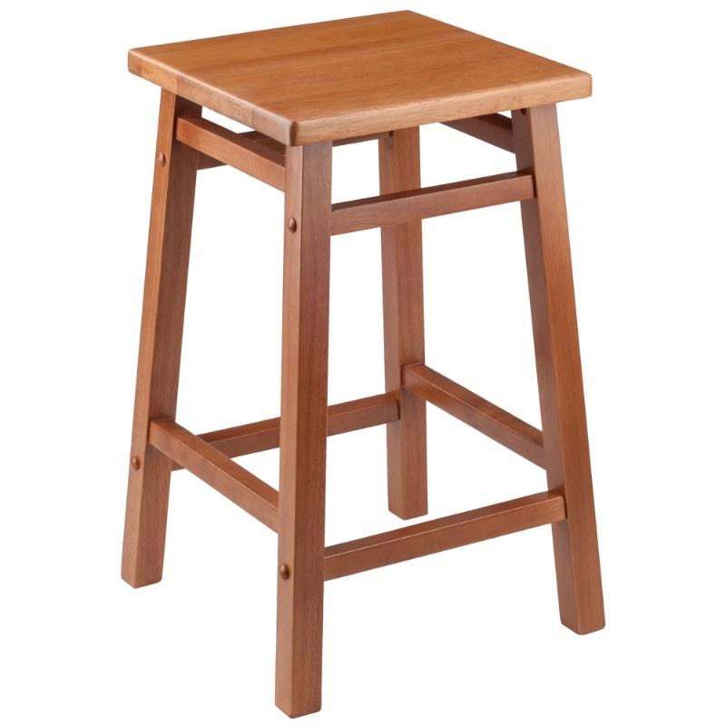 33153 Carter Square Seat Counter Stool, Teak