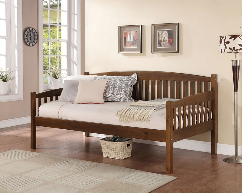 Acme 39090 August grove ferrin caryn antique oak finish wood day bed with slats