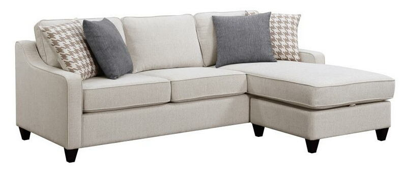501840 2 pc Winston porter tishie cream colored fabric transitional style sectional sofa