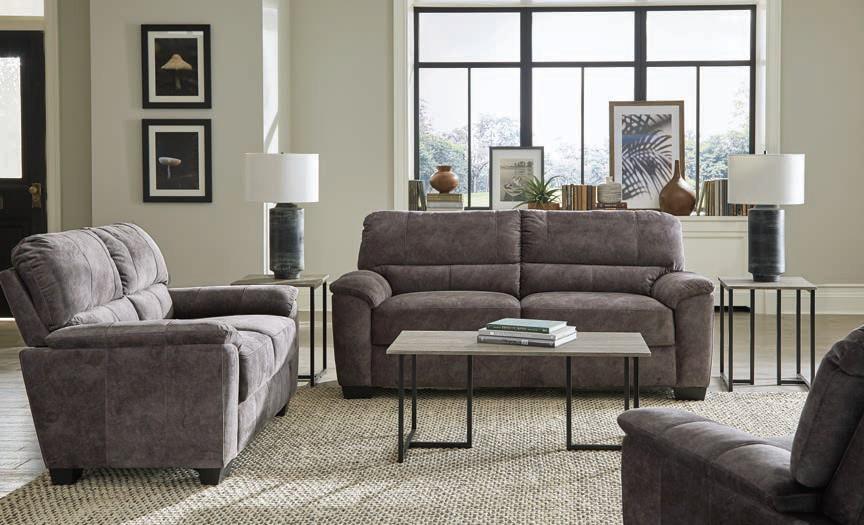 509751-52 2 pc Winston porter clermont hartsook charcoal grey velvet sofa and love seat set