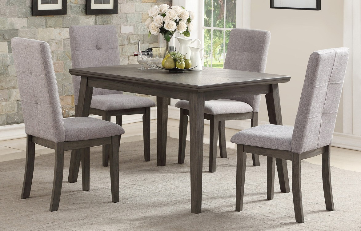 Homelegance 5163-48-5PC 5 pc Darby home co University gray finish wood dining table set