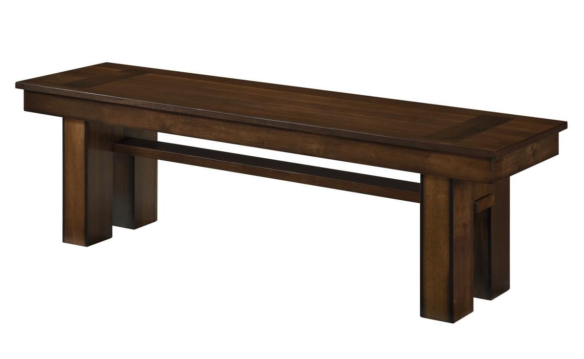 Homelegance 5415RF-13 Darby home co sedley walnut finish wood dining bench