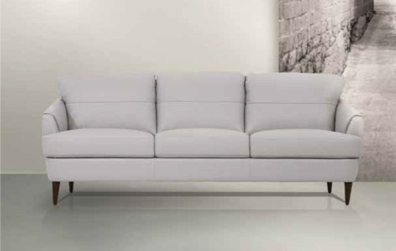 Acme 54575 Brayden studio kyser helena Mi Piace modern pearl gray top grain leather sofa