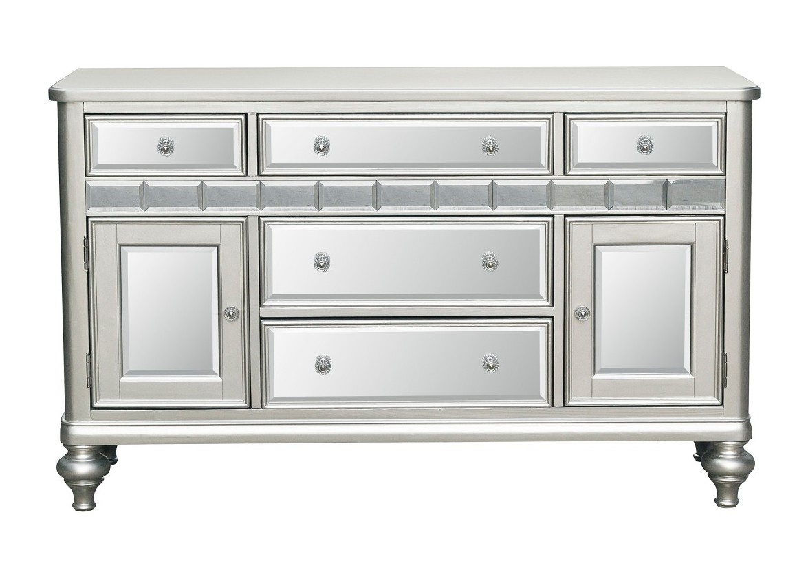 Homelegance 5477N-40 Darby home co Orsina antique silver finish wood buffet server console cabinet