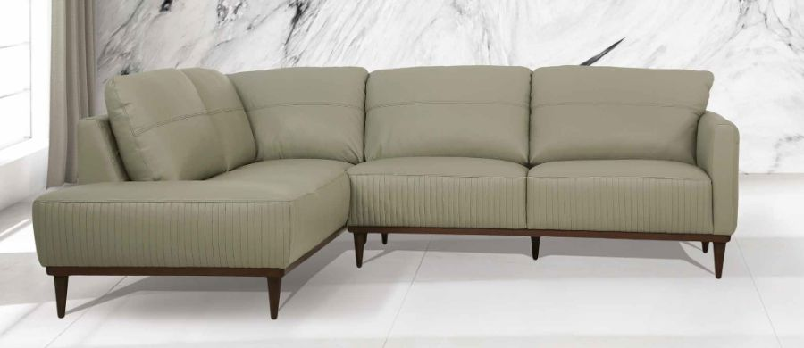 Acme 54995 2 pc Brayden studio kyser tampa airy green top grain leather sectional sofa set