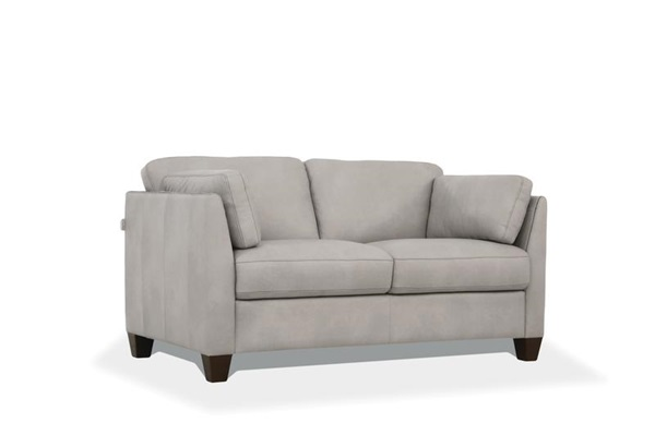 Acme 55016 Winston porter jemma matias Mi Piace modern dusty white top grain leather love seat