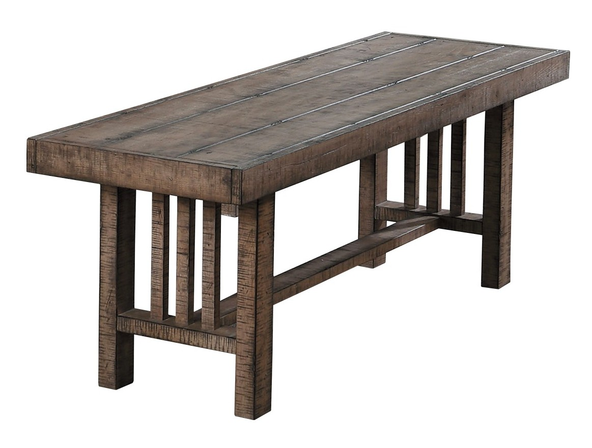 Homelegance 5544-13 Darby home co Codie distressed light brown finish wood dining bench