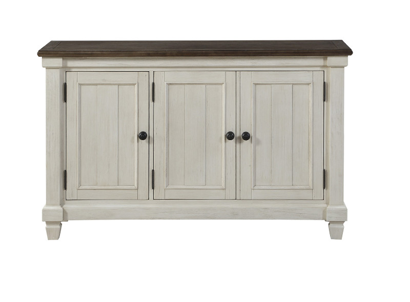 Homelegance HE-5627W-40 Willow bend antique white rosy brown finish wood server buffet console cabinet